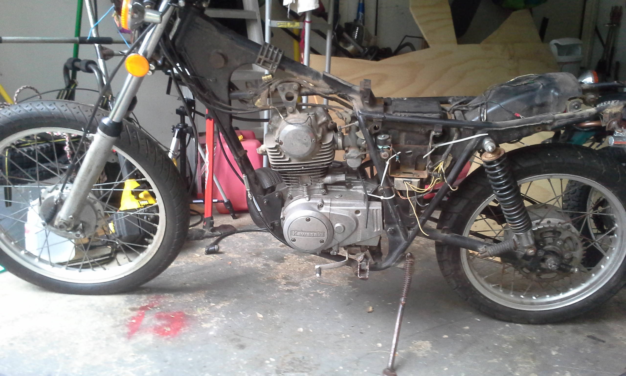 Kawasaki Kl250 Wiring Diagram Schematics Harness 79 Ke250 1978 Kl 250 Fix Trap Shooters Forum 1980