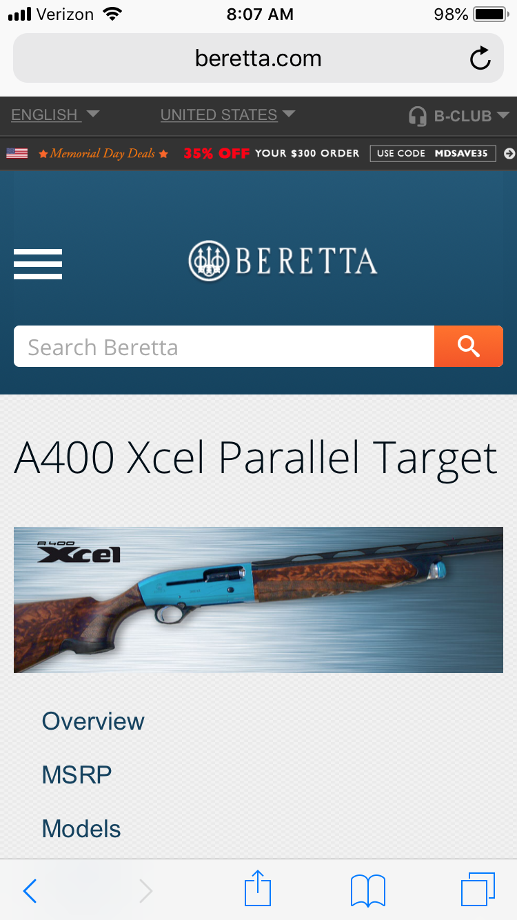 Beretta A400 Xcel Parallel Target | Trap Shooters Forum