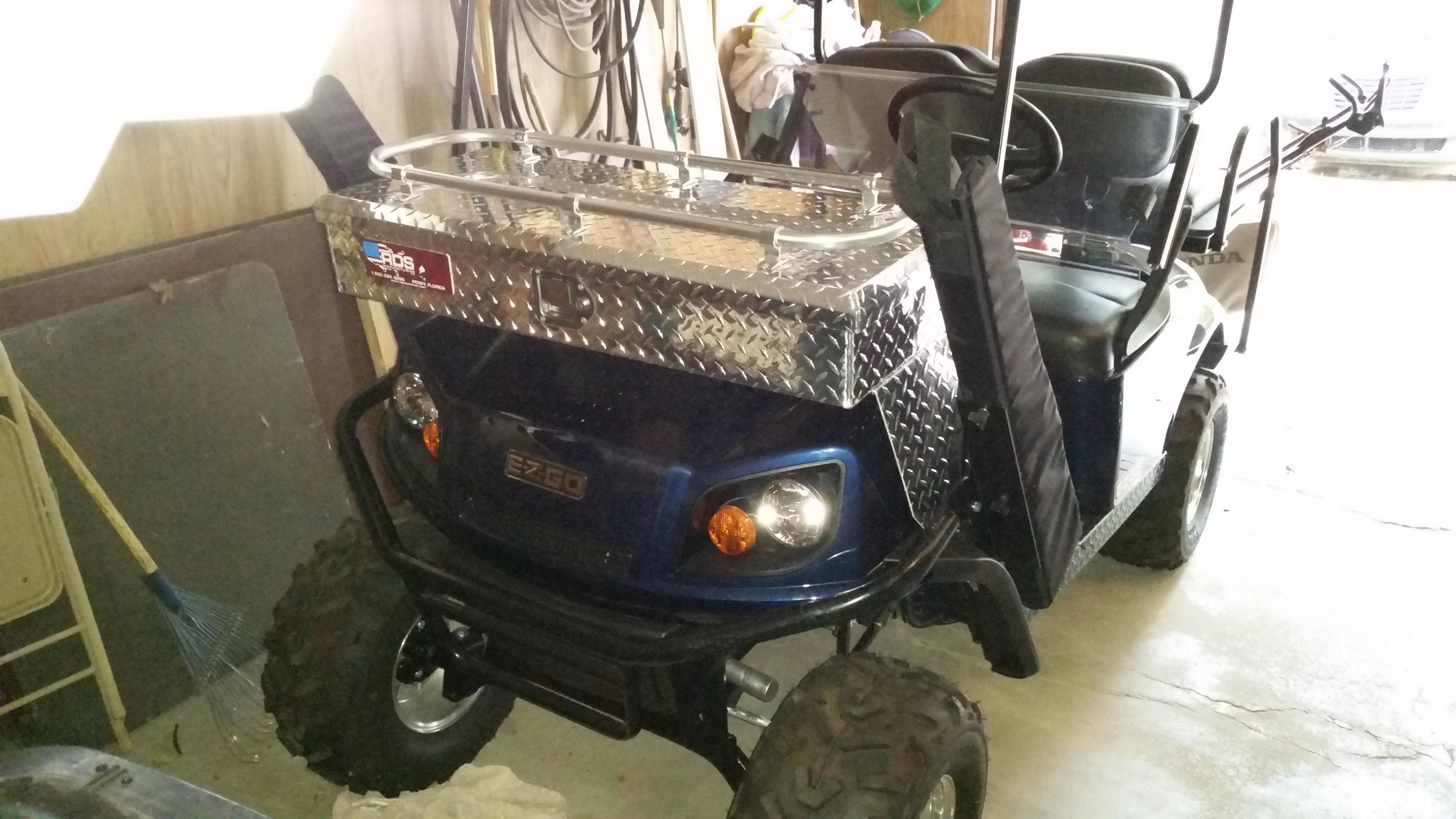 Best gun mount for a golf cart.   Trap Shooters Forum Ezgo Golf Cart Gun Rack on utv gun racks, ezgo kawasaki engine parts, golf cart storage racks, ezgo roof dimensions, ezgo racks gun diy, ezgo st 480 workhorse, golf cart front racks, atv gun racks,