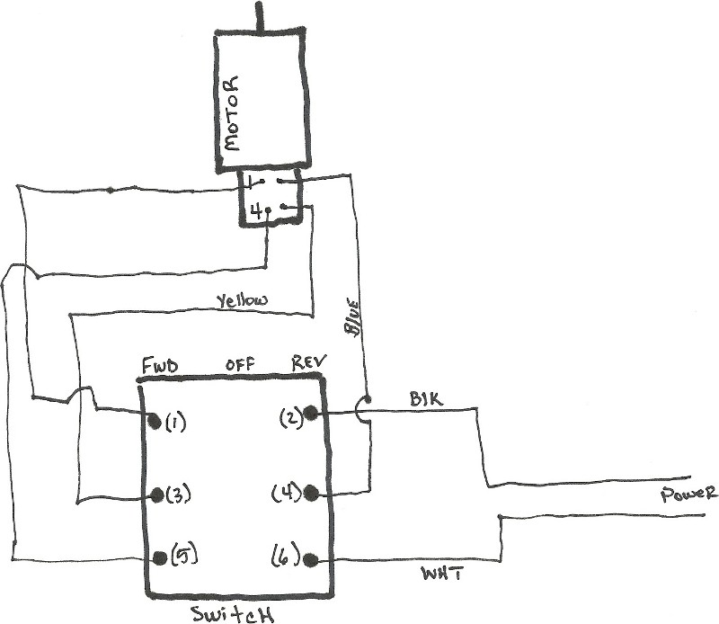 single phase motor reversing switch wiring diagrams