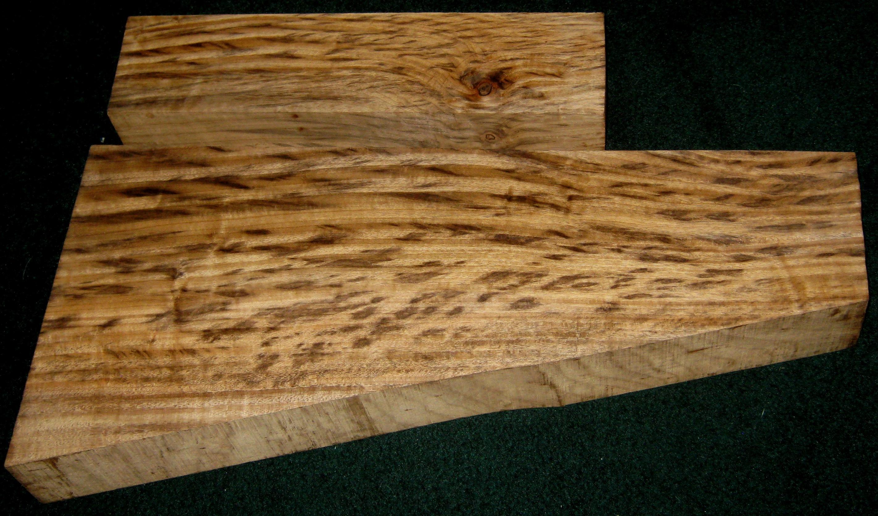 For Sale Tiger Stripe Myrtlewood Monster Blank Set