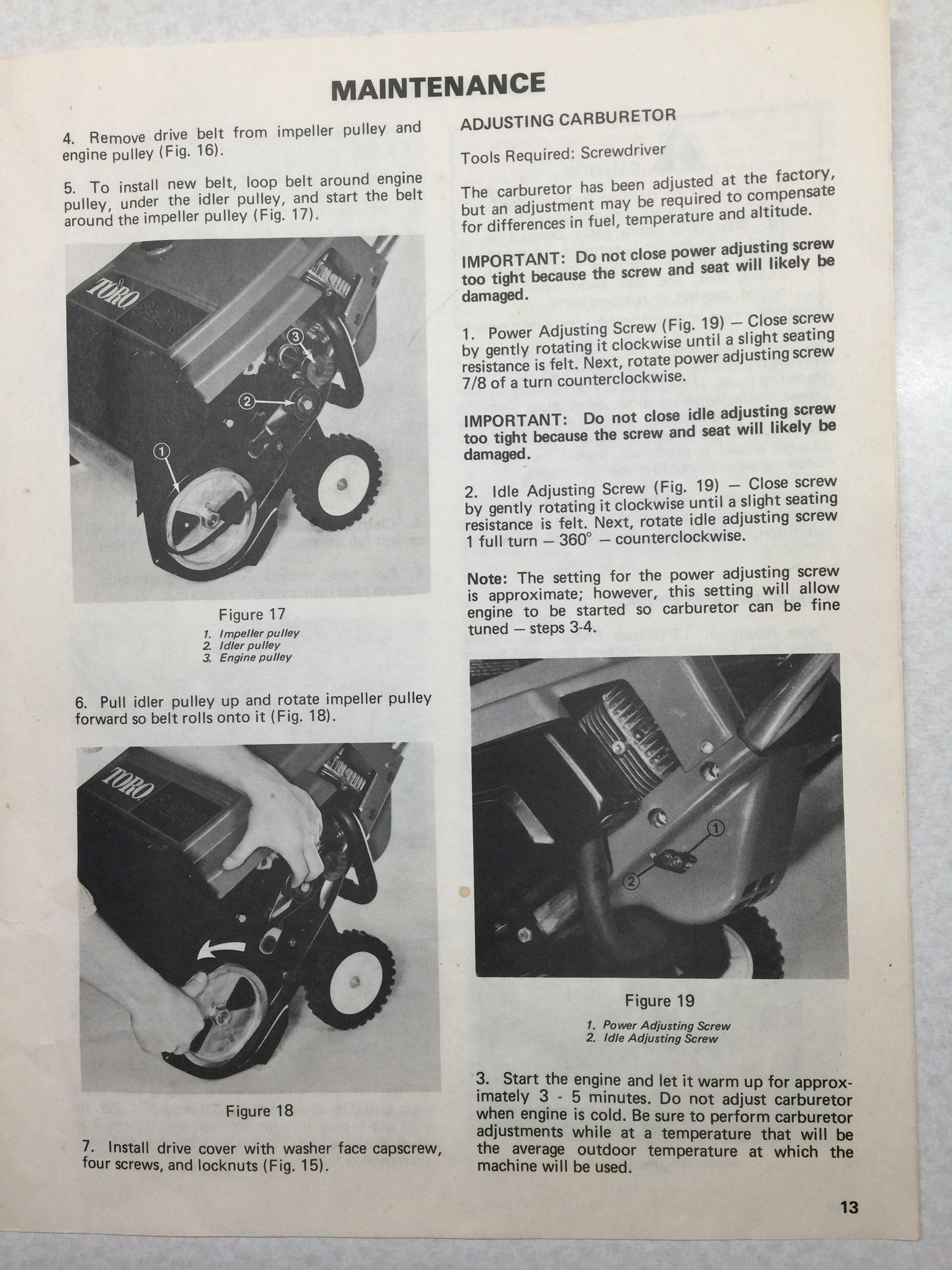 Toro S200 Snower Carb Smartvradar