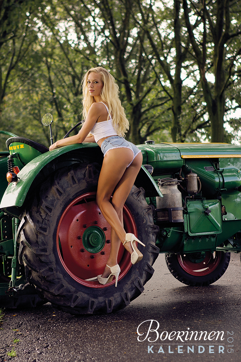Hot hot girls with tractors — 6