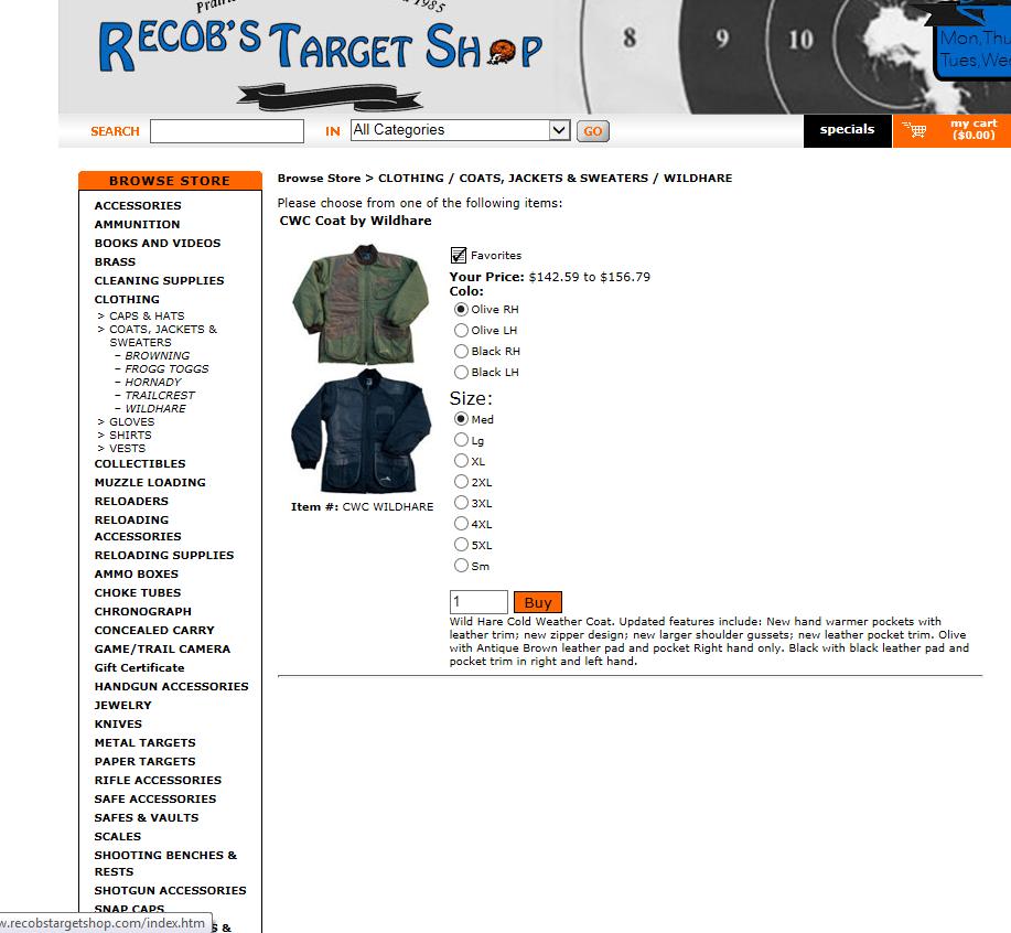33059881e96ee Trap shooting coat.   Trap Shooters Forum